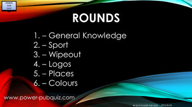 B24 Six Round Sixty Question Quiz in PDF Format