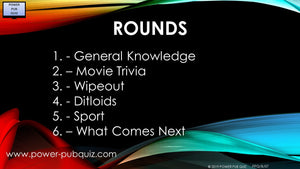 B07 Six Round Sixty-Five Question Quiz in PDF or Paper Format
