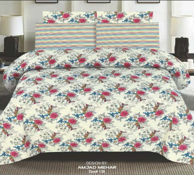 Nishat D#138 Pure Cotton PC Bedsheet