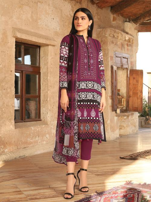 Sana Safinaz SS-3178 (2020) Embroidered Three Piece Lawn Collection