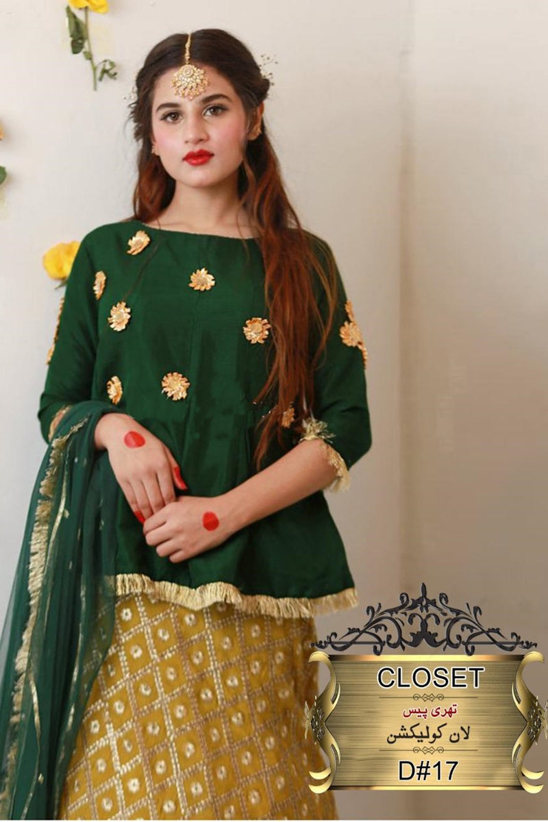 CLOST FCC JB-07 Eid Collection three piece Lawn Embroidered Suit