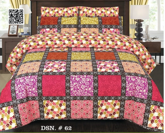 Gull Ahmed D-62 Pure Cotton PC Bedsheet