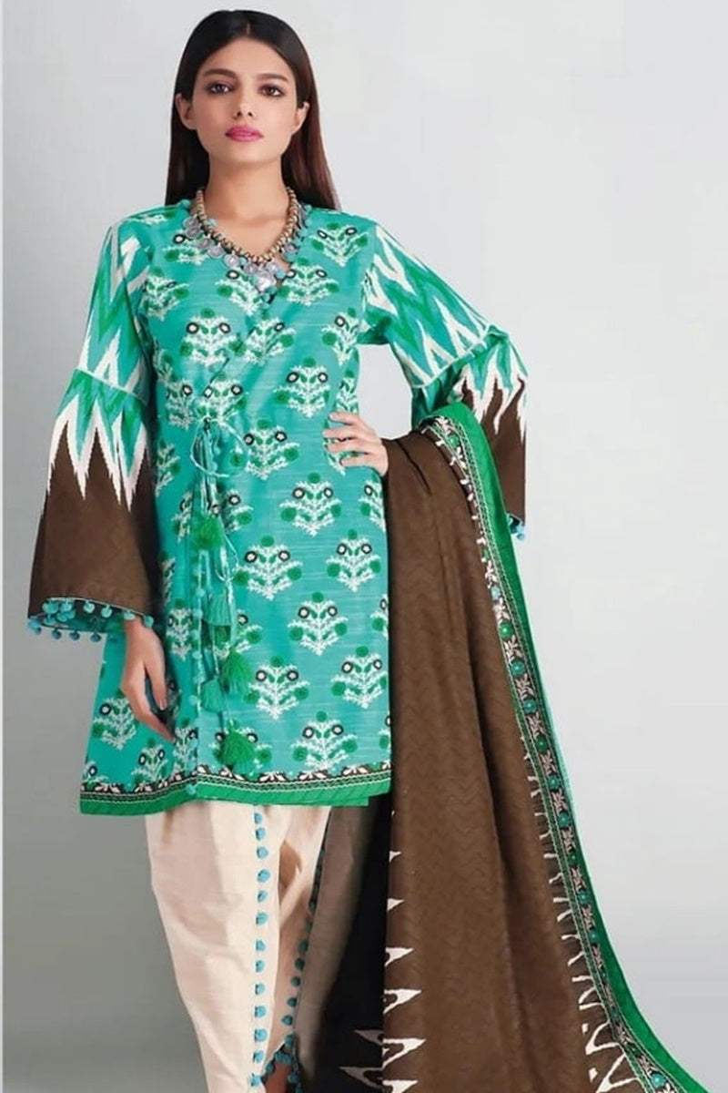 khaadi Design#05B  Printed Airjet Lawn 3 pc