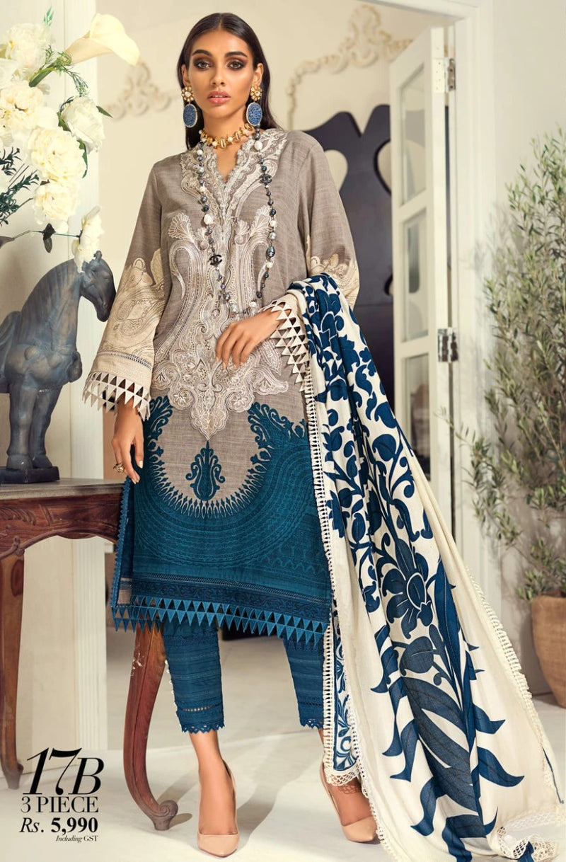 Female choice FCC-17B Embroidered Three Piece Lawn Collection