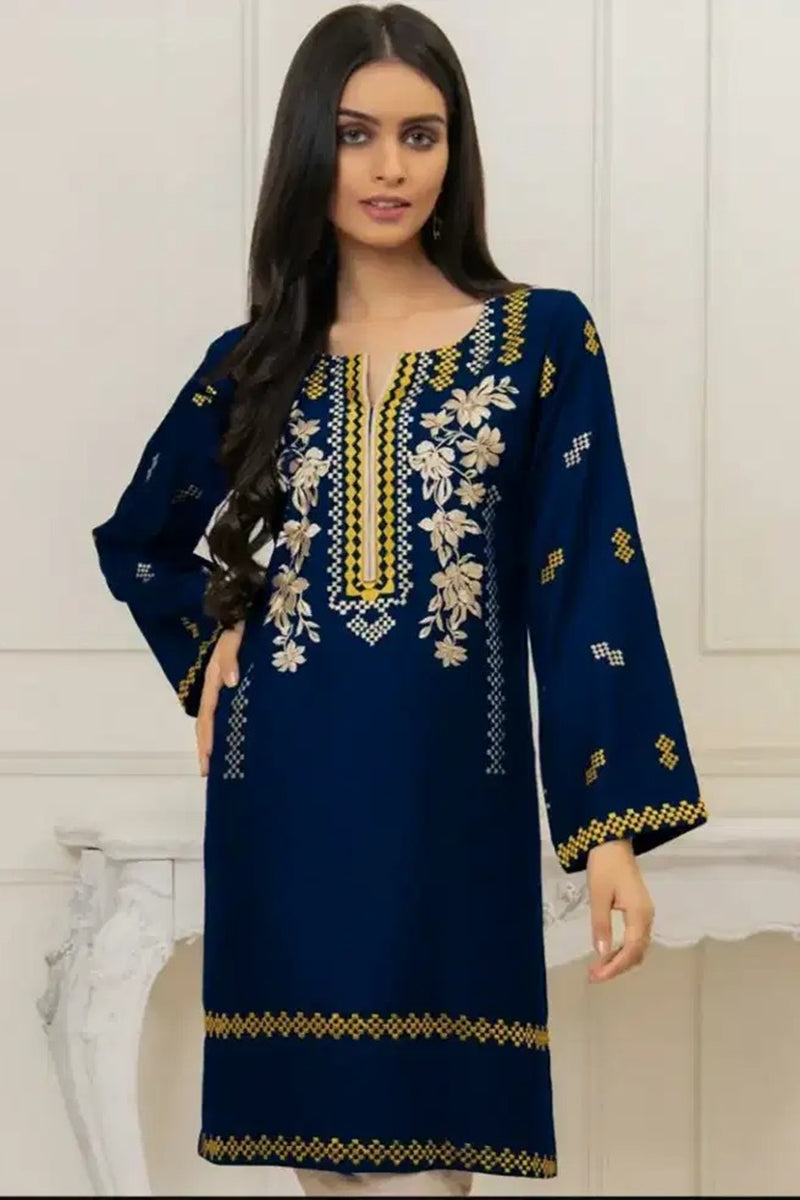 Mussamry M-01 Blue Lawn Embroidered two piece Summer Collection