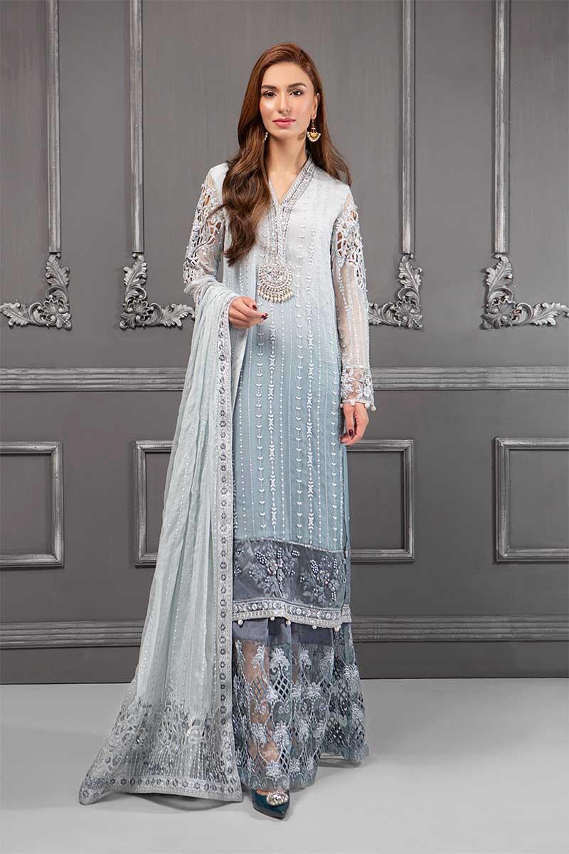 Maria B BDS-1410 Unstitched Pure Chiffon Collection Embroidered Two Piece