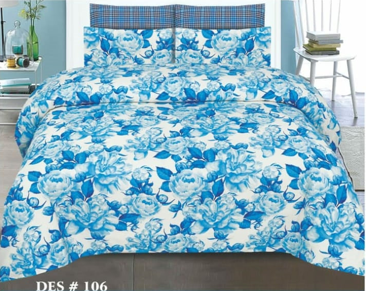 Tana Bana D 106 Pure Cotton King size Bedsheet with 2 pillow Covers
