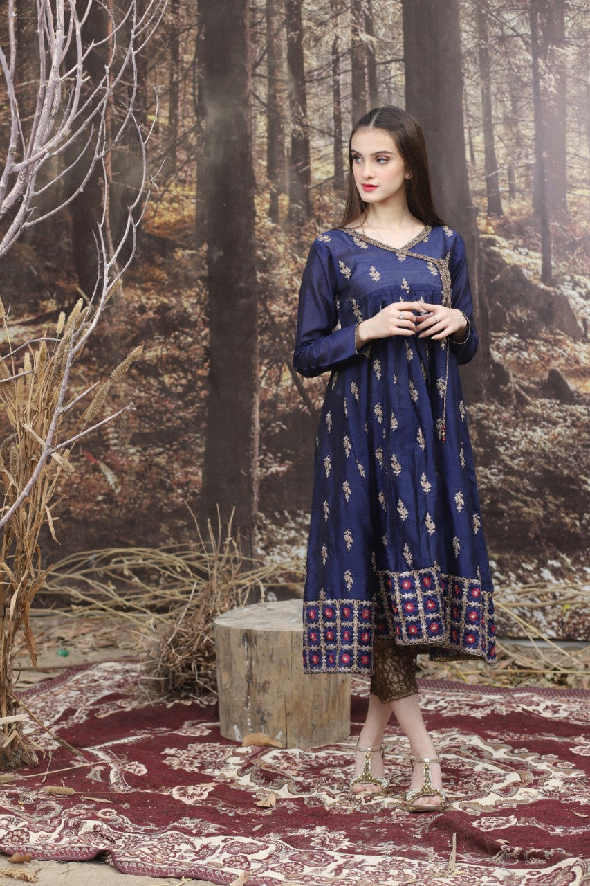 Limelight LT-5108 Embroidered Linen two piece Winter Collection