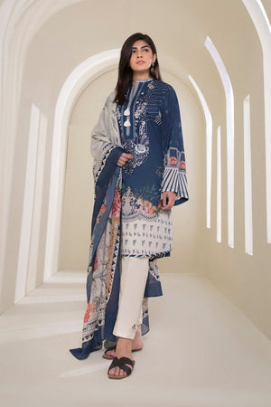 Sapphire D 302 Embroidered Three Piece Marina Linen Collection