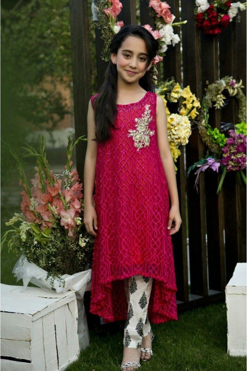 Maria B D-212 kids Wear Lawn Embroidered two piece