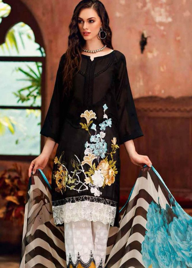Charizma CH-559 Black (Linen) Eid Collection Embroidered Three Piece Linen Collection