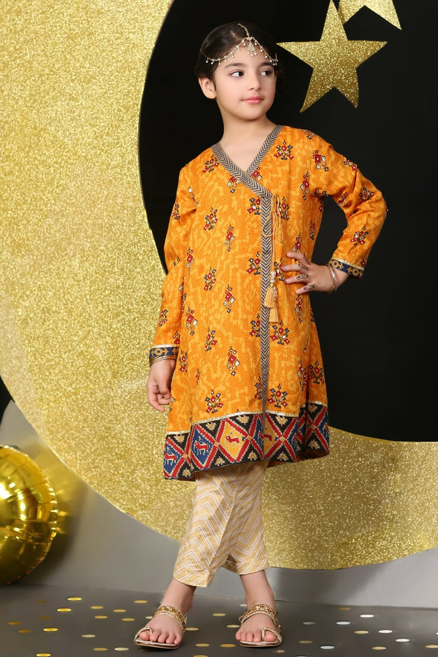 khaadi D-147 kids Wear Lawn Embroidered two piece