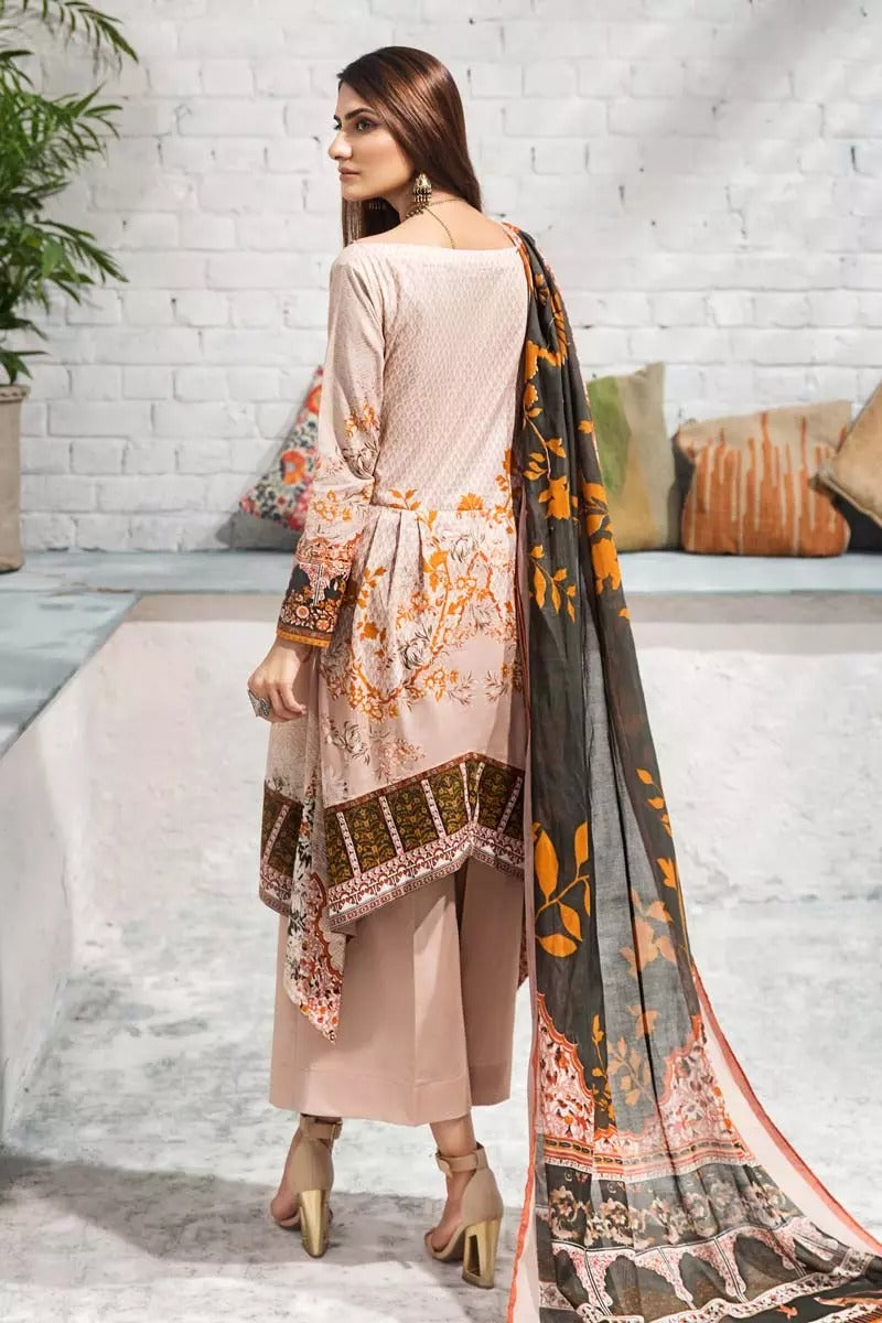 Gul Ahmed Design#08 Printed Airjet Lawn 3 pc