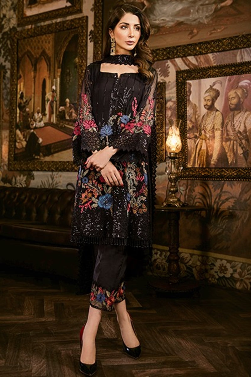 Iznik After Dark (IZK 08) Unstitched Chiffon Collection Embroidered Two Piece Shirt & Duppata