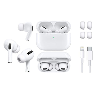 Apple Airpods Pro (Active Noise Cancellation Wireless Charging Case | 3rd Generation Stero Bass With Wireless Charging | Popup Window | GPS | Touch Sensors | Compatible With All iPhone & Android Phones Super Clone)