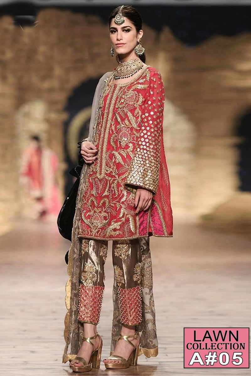 Rang Ja A-05 Embroidered Three Piece Lawn Collection