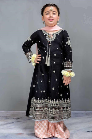 Maria B D-05 Black kids Wear Lawn Embroidered two piece