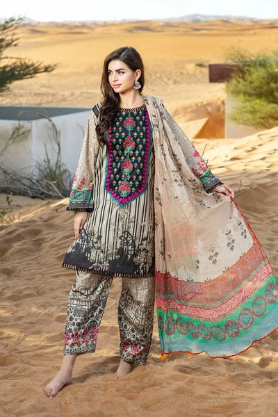 CCharizma CH-99 Linen three piece suit with Woolen duppata