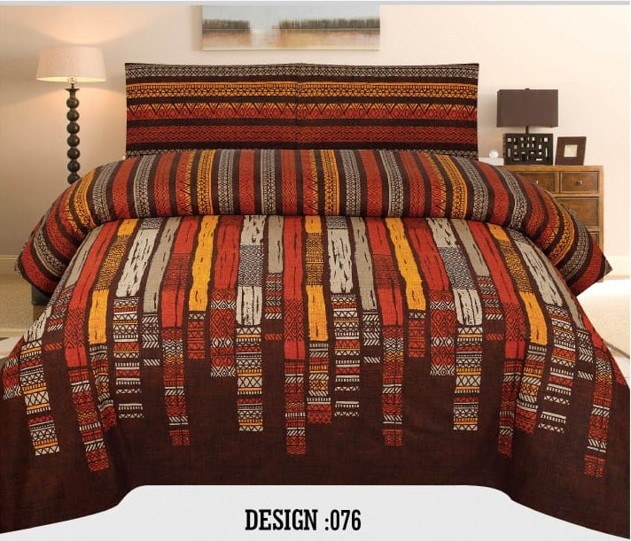 Gul Ahmed D#076 Pure Cotton PC Bedsheet