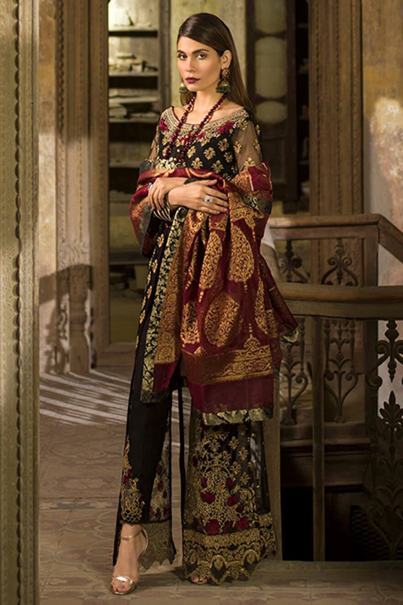 Zainab Chotani ZC-5289 Unstitched Pure Chiffon Collection Embroidered Two Piece