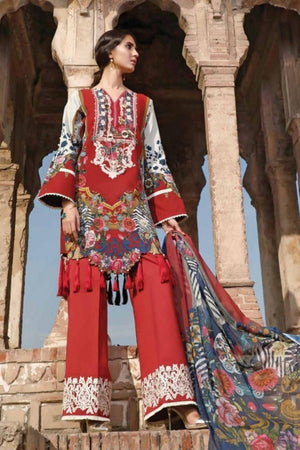 Firdous D#02A Lawn three piece suit Summer Collection