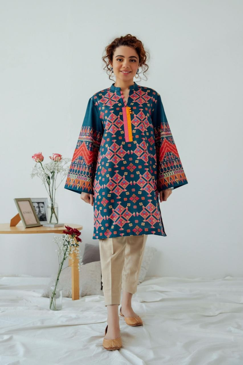 Female choice FCC-7002 Blue Khaddar Embroidered Two piece