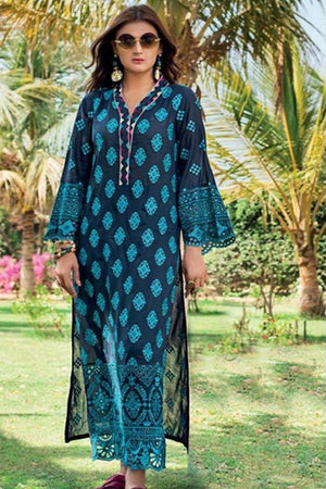 Zainab Chottani ZC-3266  Blue ChikenKari Embroidered Two Piece Lawn Collection