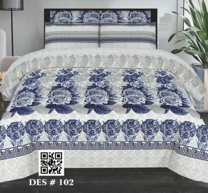Nishat D#102 Pure Cotton PC Bedsheet