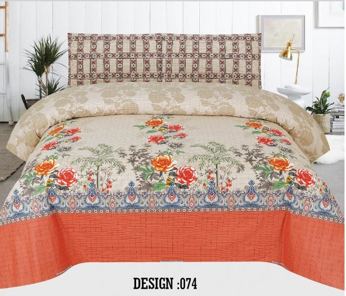 Gull Ahmed D-074 Pure Cotton PC Bedsheet