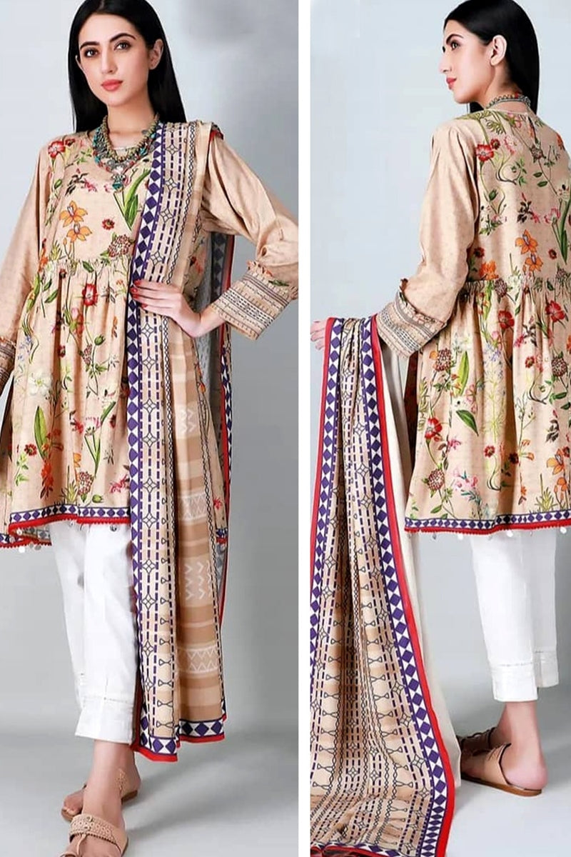 khaadi Design#04A Printed Airjet Lawn 3 pc