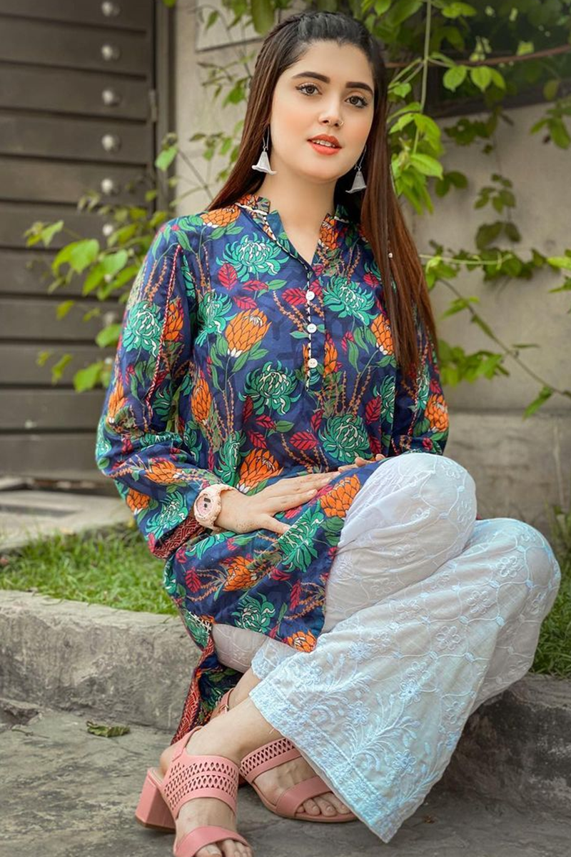 FCC-5092 (Lawn) Embroidered two piece Summer  Collection