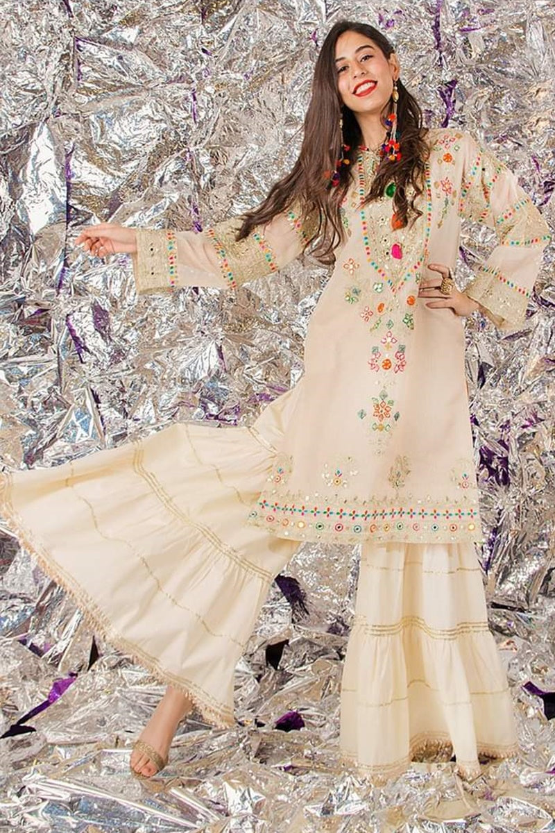 Female choice FCC-5093 SKIN Khaddar Embroidered Two piece