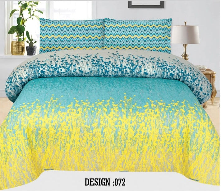 Gul Ahmed D#072 Pure Cotton PC Bedsheet