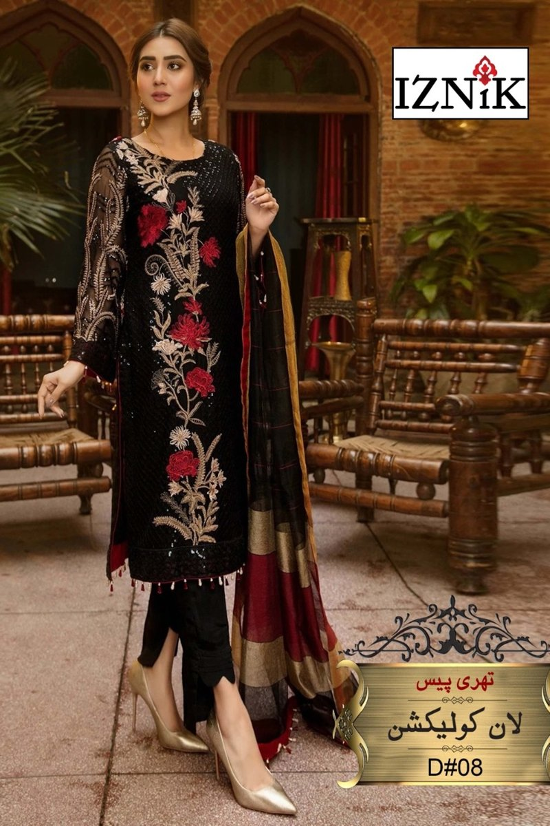 Iznik D-08  Embroidered Three piece Lawn Collection