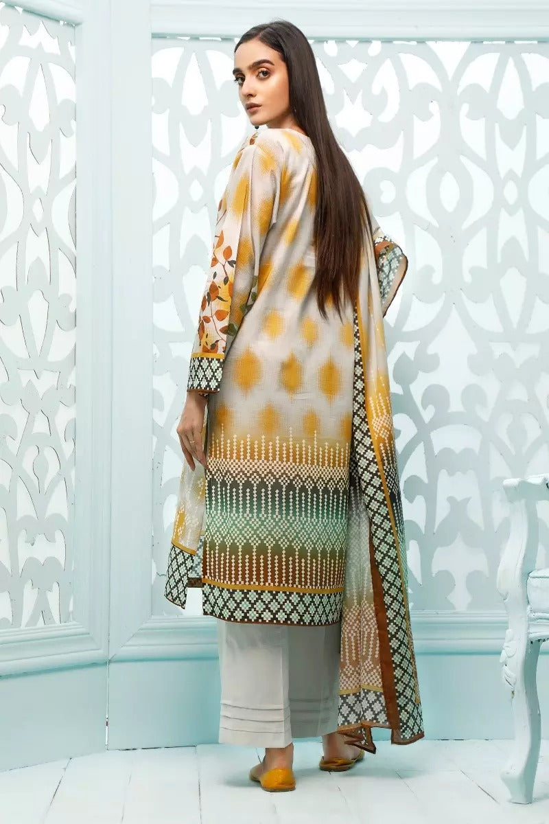 Gul Ahmed Design#02 Printed Airjet Lawn 3 pc