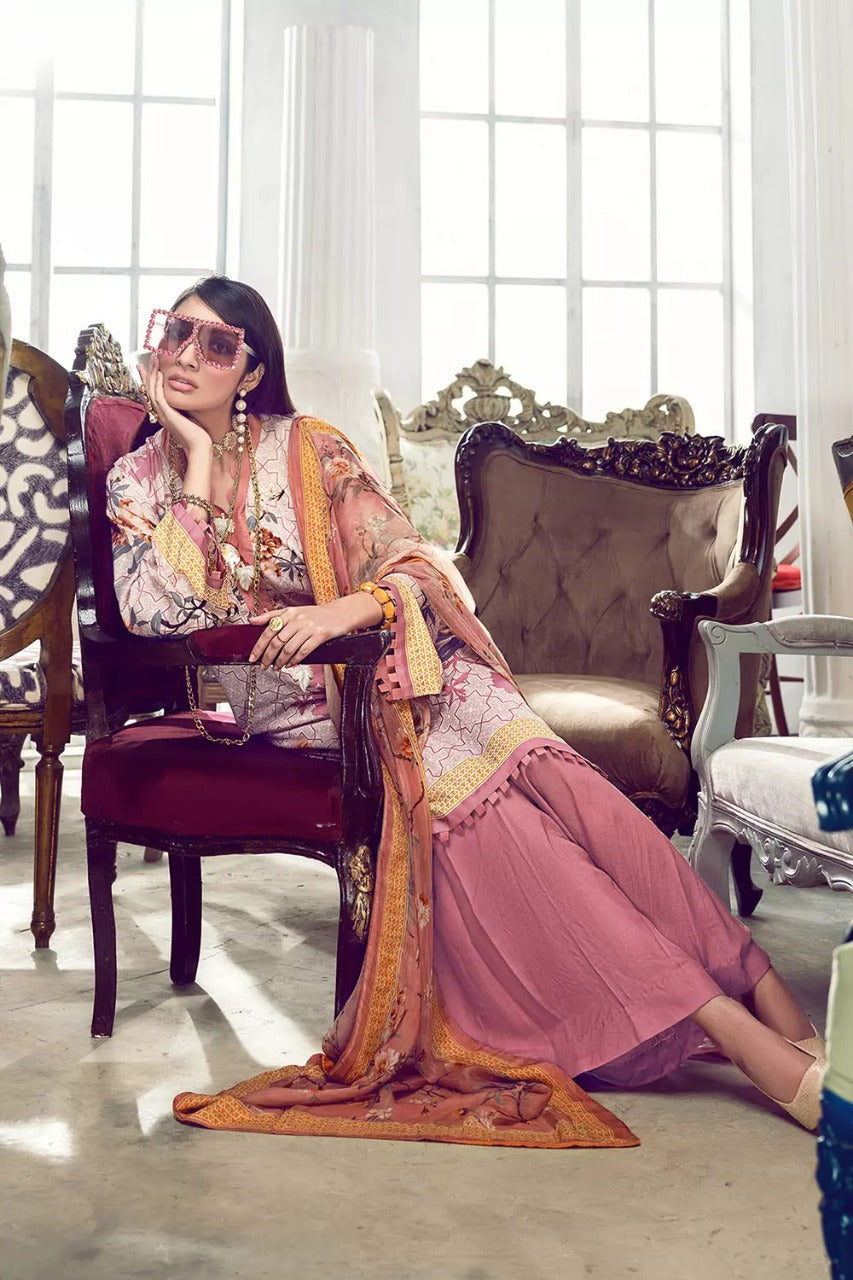 Gul Ahmed Design#01 Printed Airjet Lawn 3 pc