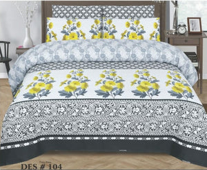 Tana Bana D 104 Pure Cotton King size Bedsheet with 2 pillow Covers