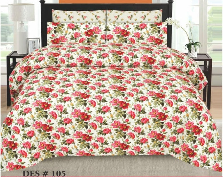 Tana Bana D 105 Pure Cotton King size Bedsheet with 2 pillow Covers