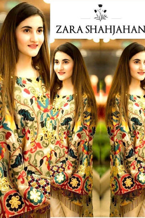 Zara Shahjhan zsj-03 Skin  Embroidered two piece Lawn Collection