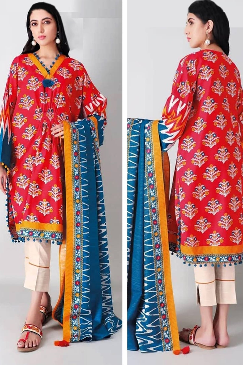 Khaadi Design#05A Printed Airjet Lawn 3 pc