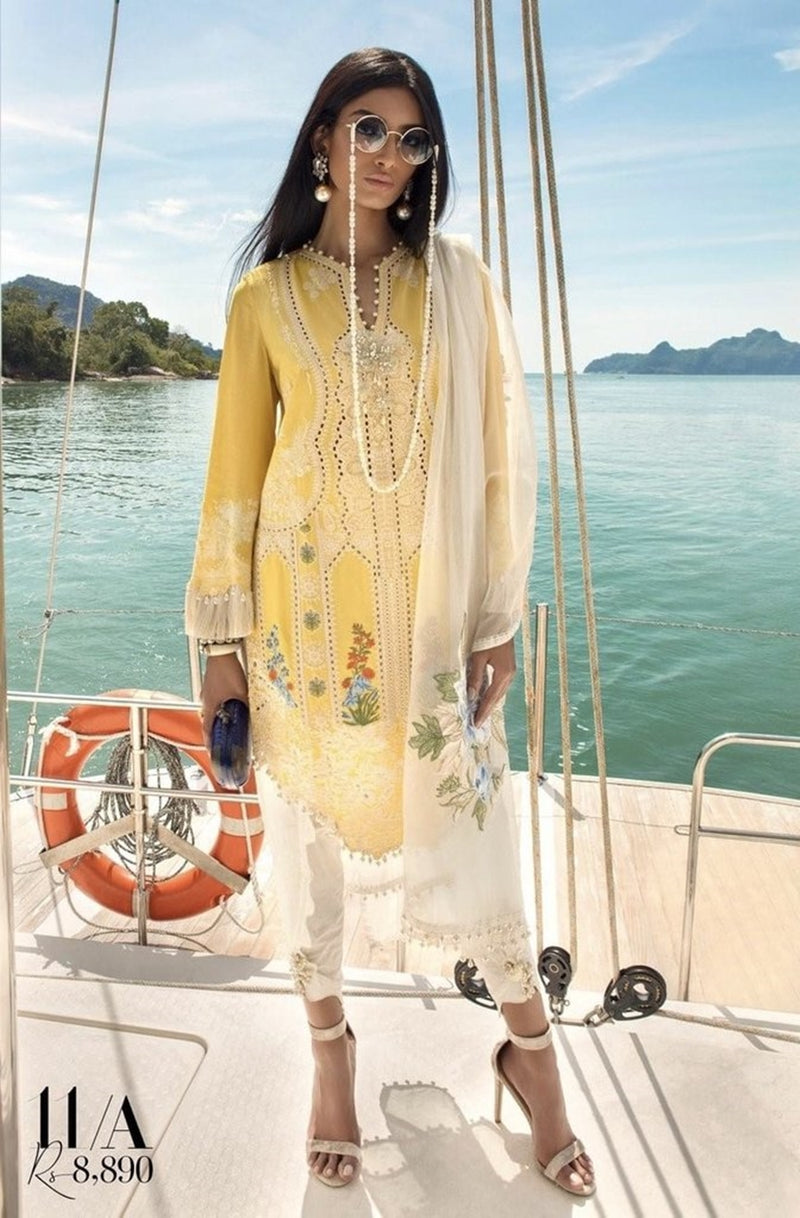 Sobia nazir SN-11A Embroidered Three Piece Linen Collection