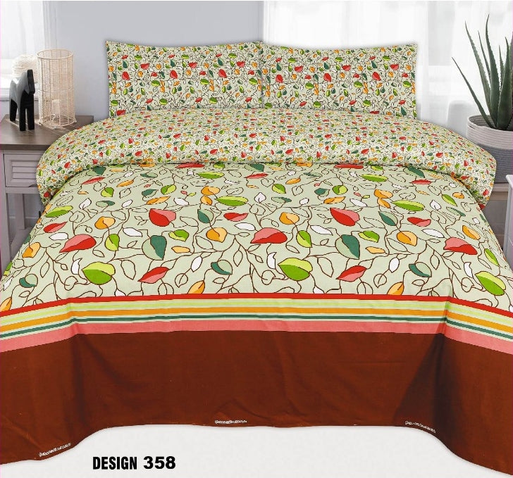Chenab D#358 Pure Cotton PC Bedsheet