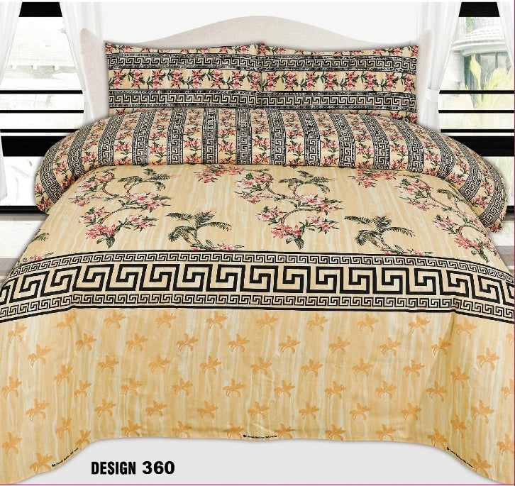 Chenab D#360 Pure Cotton PC Bedsheet