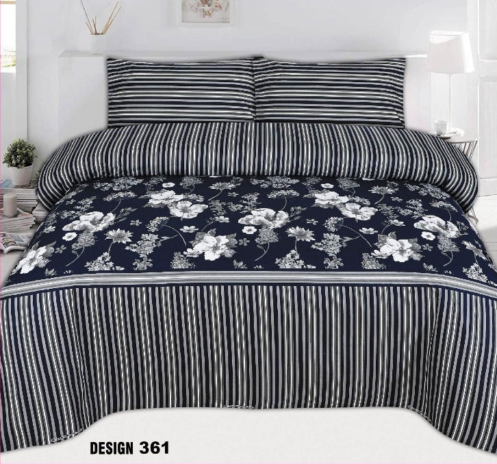 Chenab D#361 Pure Cotton PC Bedsheet