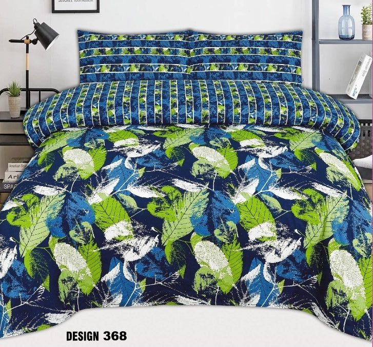 Chenab D#368 Pure Cotton PC Bedsheet