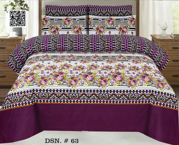 Gul Ahmed D#63 Pure Cotton PC Bedsheet
