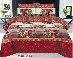 Gul Ahmed D#65 Pure Cotton PC Bedsheet