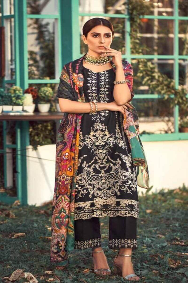 Elaf EL-05 Black ChikenKari Embroidered Three Piece Lawn Collection