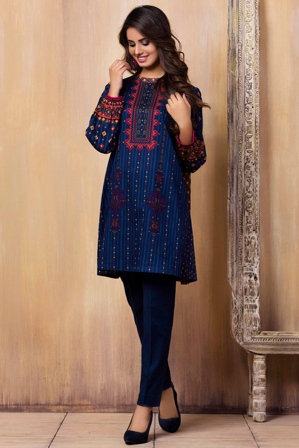 FCC-5101 Embroidered khaddar two piece Winter Collection