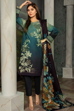 limelight LT-6049 Green Embroidered Three Piece Lawn Collection